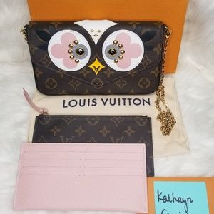 NWT LOUIS VUITTON POCHETTE FELICIE BIRDS OWL FACES